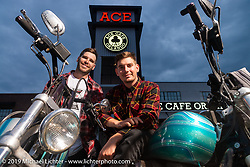 Kyle and Cody Ives of the Ives Brothers Wall of Death stunted at the Dyna-FXR show at the Ace Cafe during Daytona Bike Week. Orlando, FL. USA. Saturday March 10, 2018. Photography ©2018 Michael Lichter.