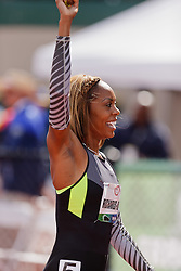 Sanya Richards-Ross, Women's 400 meters, champion, Olympian, acknowledges crowd after winning
