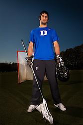 28 January 2011: CJ Costabile, lacrosse player for the Duke Blue Devils. (Peyton Williams/US Lacrosse)
