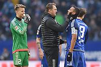 Fotball<br /> Tyskland<br /> 27.02.2016<br /> Foto: Witters/Digitalsport<br /> NORWAY ONLY<br /> <br /> Schlussjubel v.l. Torwart Ørjan Håskjold Nyland, Trainer Ralph Hasenhuettl, Marvin Matip (Ingolstadt)<br /> Hamburg, 27.02.2016, Fussball Bundesliga, Hamburger SV - FC Ingolstadt 04 1:1