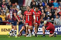 Rugby Union - 2021 / 2022 Gallagher Premiership - Round One - Bristol vs Saracens - Ashton Gate - Friday 17th September 2021<br /> <br /> Saracens' Ben Earl celebrates a turnover.<br /> <br /> COLORSPORT/Ashley Western