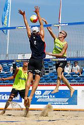 20150830 NED: NK Beachvolleybal 2015, Scheveningen<br />Tim Oude Elferink, Sven Vismans