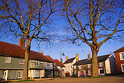 A3AAR8 Buildings and trees Market Square Wickham Market Suffolk England. Image shot 2006. Exact date unknown.