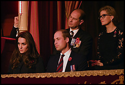 November 12, 2016 - London, United Kingdom - Image ©Licensed to i-Images Picture Agency. 12/11/2016. London, United Kingdom. Royal Festival of Remembrance. ...The Duke and Duchess of Cambridge and the Earl and Countess of Wessex attend the annual Royal Festival of Remembrance at the Royal Albert Hall in London...Picture by  i-Images / Pool (Credit Image: © i-Images via ZUMA Wire)