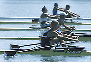 Milan ITALY,  General View of the USA BM1X  IanMCGOWAN, 1997 Nations Cup U23  World Rowing Championships. Course, Idra Scala. Province of Milan.<br /> <br /> [Mandatory Credit; Peter Spurrier/Intersport-images] 1997 U23 Nations Cup U23 Championships. Milan Italy