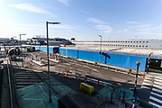 London City Airport parking lots are seen empty, in east London, Thursday, March 26, 2020, the airport is closed till at least the end of April due to coronavirus outbreak.  (Photo/Vudi Xhymshiti)