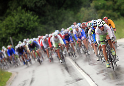 The best in mountain overall classification Mitja Mahoric of Slovenia (Perutnina Ptuj) leading the peloton in last 4th stage of the 15th Tour de Slovenie from Celje to Novo mesto (157 km), on June 14,2008, Slovenia. (Photo by Vid Ponikvar / Sportal Images)/ Sportida)