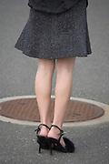 legs of a skinny woman