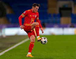 CARDIFF, WALES - Wednesday, November 18, 2020: Wales' Connor Roberts during the UEFA Nations League Group Stage League B Group 4 match between Wales and Finland at the Cardiff City Stadium. Wales won 3-1 and finished top of Group 4, winning promotion to League A. (Pic by David Rawcliffe/Propaganda)