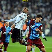 Besiktas's Mert NOBRE (L) and Trabzonspor's Ceyhun GULSELAM (R) during their Turkey Cup Group B matchday 5 soccer match Besiktas between Trabzonspor at the Inonu stadium in Istanbul Turkey on Wednesday 26 January 2011. Photo by TURKPIX