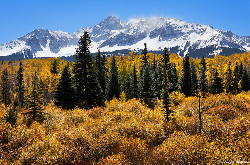 Snow-capped Mount Wilson near Telluride, Colorado.