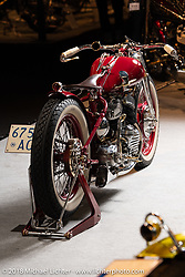 Verner Ortis, a metal worker specializing in stairs and gates for homes in Tolmezzo, Italy, built this custom 1942 Harley-Davidson WLA displayed in the  AMD World Championship of Custom Bike Building in the Intermot Customized hall during the Intermot International Motorcycle Fair. Cologne, Germany. Sunday October 7, 2018. Photography ©2018 Michael Lichter.