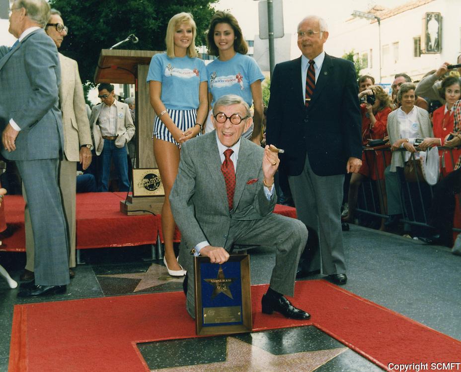 1984 George Burns' Walk of Fame ceremony