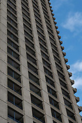 The Barbican Estate on the 12th September 2019 in London in the United Kingdom. The Barbican Estate is a residential estate that was built during the 1960s and the 1980s within the City of London in Central London.