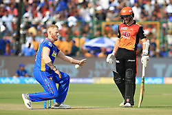 April 29, 2018 - Jaipur, Rajasthan, India - Rajasthan Royals bowler Ben Stokes  during the IPL T20 match against Sunrisers  Hyderabad at Sawai Mansingh Stadium in Jaipur on 29th April,2018. (Credit Image: © Vishal Bhatnagar/NurPhoto via ZUMA Press)