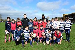 Jamie Shillcock and Cooper Vuna deliver coaching sessions at Stourbridge RFC  - Mandatory by-line: Dougie Allward/JMP - 19/03/2017 - Rugby - Stourbridge RFC - Stourbridge, England - Worcester Warriors Community Rugby
