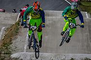 #247 (TE HIKO Brandon) AUS and #215 (MCLEAN Joshua) AUS during round 4 of the 2017 UCI BMX  Supercross World Cup in Zolder, Belgium.