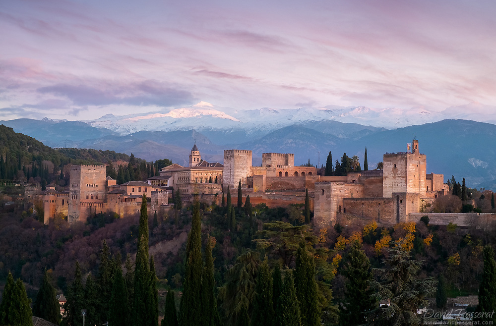 The Alhambra and snowy Sierra Nevada