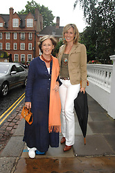 Left to right, PATTI PALMER-TOMPKINSON and her daughter SANTA SEBAG-MONTEFIORE at the annual Sir David & Lady Carina Frost Summer Party in Carlyle Square, London SW3 on 5th July 2007.<br />