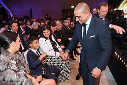 7 December 2017 -  Ballon d'Or 2017 - Roberto Carlos meets Ronaldo's son, Cristiano Junior, Girlfriend Georgina Rodriguez and Mother Maria Dolores dos Santos Aveiro - Photo: Presse Sports / Offside