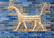 Dragon of The tiled Ishtar Gate of Babylon (Iraq) Pergamon Museum, Berlin, Germany,