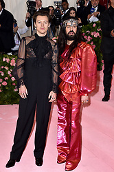 Harry Styles and Alessandro Michele attend The 2019 Met Gala Celebrating Camp: Notes On Fashion at The Metropolitan Museum of Art on May 06, 2019 in New York City. Photo by Lionel Hahn/ABACAPRESS.COM