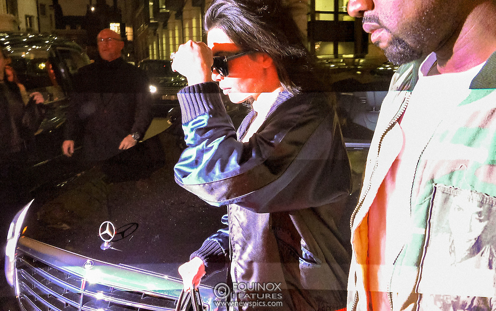 London, United Kingdom - 22 May 2016<br /> Showing off her cleavage and wearing dark sunglasses Kim Kardashian and husband, musician Kanye West arrive at the Dorchester hotel, London, England, UK. (Video also available)<br /> (photo by: EQUINOXFEATURES.COM)<br /> Picture Data:<br /> Photographer: Equinox Features<br /> Copyright: ©2016 Equinox Licensing Ltd. +448700 780000<br /> Contact: Equinox Features<br /> Date Taken: 20160522<br /> www.newspics.com