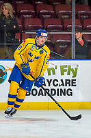 KELOWNA, BC - DECEMBER 18:  Pontus Holmberg #29 of Team Sweden warms up with the puck against the Team Russia at Prospera Place on December 18, 2018 in Kelowna, Canada. (Photo by Marissa Baecker/Getty Images)***Local Caption***