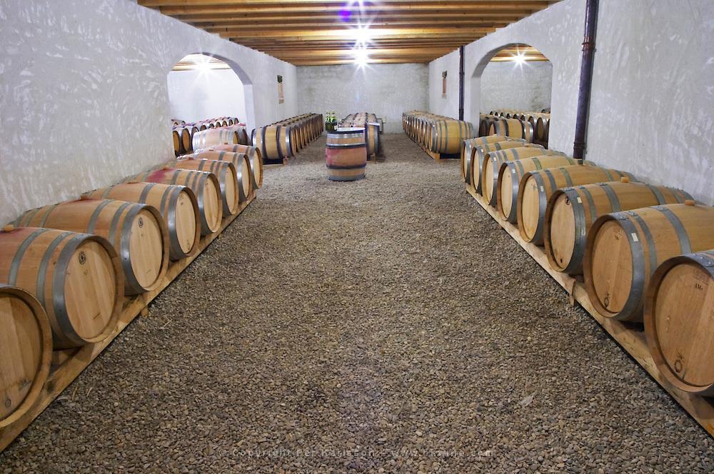 Domaine d'Antugnac. Limoux. Languedoc. Barrel cellar. France. Europe.