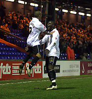 Photo: Mark Stephenson/Sportsbeat Images.<br /> Stockport County v Hereford United. Coca Cola League 2. 17/11/2007.Hereford's Lional Ainworth ( L) celebrates his 3ed goal with team mate Trevor Benjamin