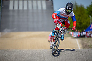 #155 (KLESHCHENKO Evgeny) RUS during practice of Round 3 at the 2018 UCI BMX Superscross World Cup in Papendal, The Netherlands
