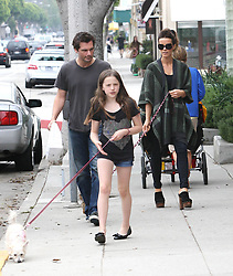 Photo by: VPRF/starmaxinc.com<br /> ©2010<br /> <br /> 7/31/10<br /> Kate Beckinsale with Len Wiseman and her daughter Lily (from another relationship) out walking their dogs in Brentwood.<br /> (CA)