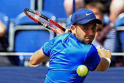 Dan Evans of Great Britain in action  - Mandatory by-line: Matt McNulty/JMP - 31/05/2016 - TENNIS - Northern Tennis Club - Manchester, United Kingdom - AEGON Manchester Trophy
