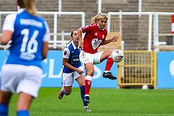 Gemma Evans of Bristol City Women controls the ball- Mandatory by-line: Will Cooper/JMP - 18/10/2020 - FOOTBALL - Twerton Park - Bath, England - Bristol City Women v Birmingham City Women - Barclays FA Women's Super League