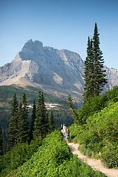 Hikers, Glacier National Park, Montana, US