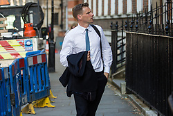 London, UK. 23 July, 2019. Chris Philp, Conservative MP for Croydon South, arrives to attend a celebration in Westminster of Boris Johnson's election as Conservative Party leader and replacement of Theresa May as Prime Minister organised by the pro-Brexit European Research Group (ERG).