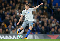"""Everton's James McCarthy during the Carabao Cup, Fourth Round match at Stamford Bridge, London. PRESS ASSOCIATION Photo. Picture date: Wednesday October 25, 2017. See PA story SOCCER Chelsea. Photo credit should read: Nigel French/PA Wire. RESTRICTIONS: EDITORIAL USE ONLY No use with unauthorised audio, video, data, fixture lists, club/league logos or """"live"""" services. Online in-match use limited to 75 images, no video emulation. No use in betting, games or single club/league/player publications."""
