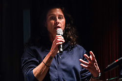 September 3, 2018 - Stockholm, Sweden - 180903 DjurgÅ'rdens trÅnare Alana Blahoski under SDHL:s upptaktstrÅff den 3 september 2018 i Stockholm  (Credit Image: © Maxim Thor/Bildbyran via ZUMA Press)