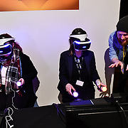 Mini-mech Mayhem exhibition at London Games Festival 2019: HUB at Somerset House at Strand, London, UK. on 2nd April 2019.