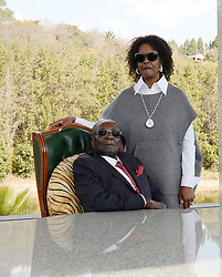 29/07/2018:Zimbabwe,Harare. Grace Mugabe with her husband, former president Robert Mugabe after held a press conference at his Blue Roof residence.2315<br /> Picture: Matthews Baloyi/AFrican News Agency (ANA)