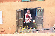 Madagascar, Madagascan family near their home