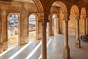 Abandoned interior with columns and arches, La Guarida Paladar, Havana, Cuba