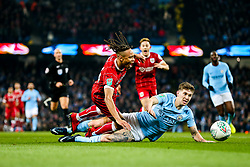 Bobby Reid of Bristol City is fouled by John Stones of Manchester City and is awarded a penalty - Rogan/JMP - 09/01/2018 - Etihad Stadium - Manchester, England - Manchester City v Bristol City - Carabao Cup Semi Final First Leg.