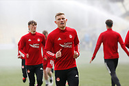 Aberdeen's Callum Hendry (9) warming up during the Scottish Premiership match between Livingston and Aberdeen at Tony Macaroni Arena, Livingstone, Scotland on 1 May 2021.