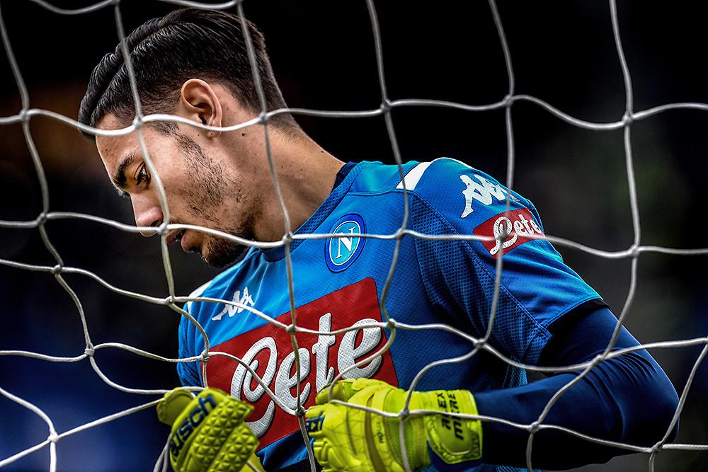 Alex Meret of  Napoli <br /> Roma 2-11-2019 Stadio Olimpico <br /> Football Serie A 2019/2020 <br /> AS Roma - SSC Napoli <br /> Foto Antonietta Baldassarre / Insidefoto