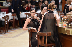 Cara Delevingne and Kendall Jenner during the Chanel show as part of the Paris Fashion Week Womenswear Fall/Winter 2015/2016 on March 10, 2015 in Paris, France. Photo by Nicolas Gouhier/ABACAPRESS.COM