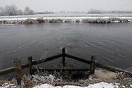 Het gemaal Kolderveen loost het opgepompte polderwater op de Opsterlandse Compagnonsvaart bij Kolderveen (Terwispel)