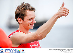 Aarhus, Denmark is hosting the 2018 Hempel Sailing World Championships from 30 July to 12 August 2018. More than 1,400 sailors from 85 nations are racing across ten Olympic sailing disciplines as well as Men's and Women's Kiteboarding. <br /> 40% of Tokyo 2020 Olympic Sailing Competition places will be awarded in Aarhus as well as 12 World Championship medals. ©Pedro Martinez/Sailing Energy / Hempel Sailing World Championships, Aarhus 2018