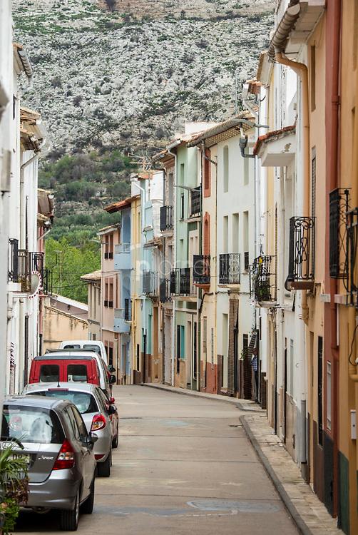 Calle con casas típicas. La Vall D'Ebo. Marina Alta. Alicante ©ANTONIO REAL HURTADO / PILAR REVILLA