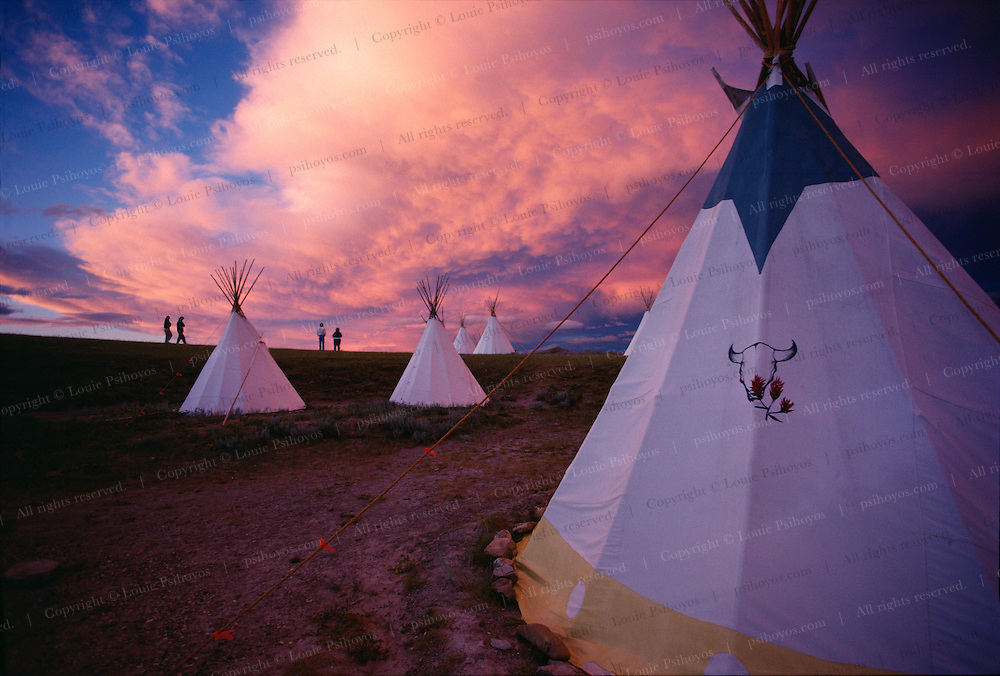 Paleontologist Jack Horner's Dinosaur Field Station near Choteau, Montana where teepees hold up better to the strong mountain winds than traditional tents.  Jack was the inspiration for Jurassic Park.